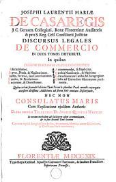 Discursus legales de commercio: Volume 1