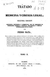 Tratado de medicina y cirugia legal: Volumen 2