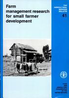Farm Management Research for Small Farmer Development PDF