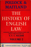 The history of English law : before the time of Edward I. 2