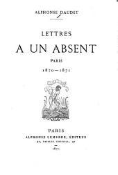 Lettres à un absent