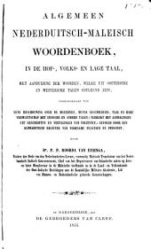 Algemeen Nederduitsch-Maleisch woordenboek, in de hof-, volks- en lage taal ...