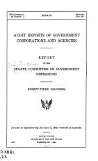 Audit Reports of Government Corporations and Agencies PDF