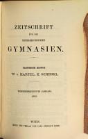 ZEITSCHRIFT FUR DIE OSTERREISCHEN GYMNASIEN PDF