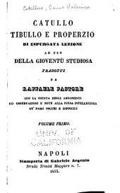Catullo: C. Valerii Catvlli poemata. Albii Tibvlli poemata