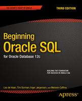 Beginning Oracle SQL PDF
