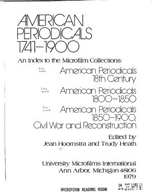 American Periodical Series