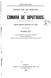 Diario de los debates: Volumen 4
