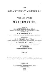 The quarterly journal of pure and applied mathematics: Volume 9
