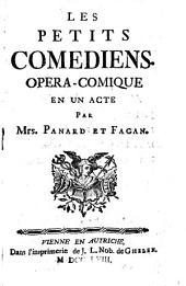 Les petits comediens. Opera-comique en 1 acte