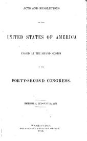 Acts and Resolutions of the United States of America