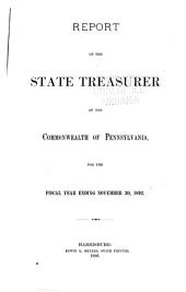 Report of the State Treasurer on the Finances of the Commonwealth of Pennsylvania