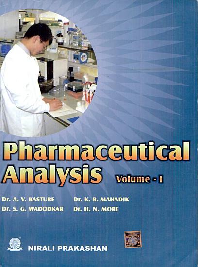 Pharmaceutical Analysis Vol    I PDF