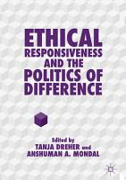 Ethical Responsiveness and the Politics of Difference PDF