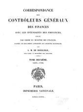 Correspondance des contrôleurs gènèraux des finances des provinces: Volume2