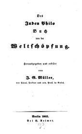 Buch von der Weltschöpfung: Herausgegeben u. erklärt von J. G. Müller
