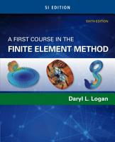 A First Course in the Finite Element Method  SI Edition PDF
