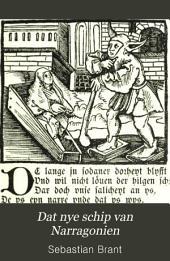 Dat nye schip van Narragonien: Die jüngere niederdeutsche Bearbeitung von Sebastian Brants Narrenschiff (Rostock 1519)