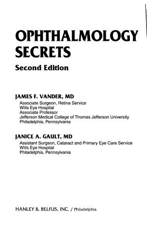 Ophthalmology Secrets