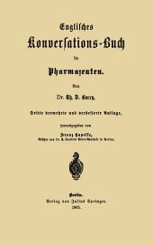 Englisches Konversations-Buch für Pharmazeuten: Ausgabe 3