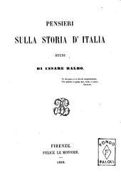 Pensieri sulla storia d'Italia studi di Cesare Balbo