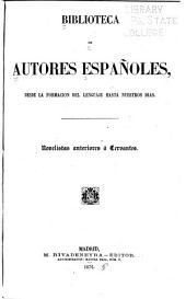 Novelistas anteriores á Cervantes
