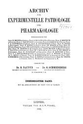 Naunyn-Schmiedeberg's Archives of Pharmacology: Volume 30