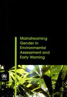 Mainstreaming Gender in Environmental Assessment and Early Warning PDF