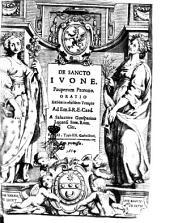 De sancto Iuone. Pauperum patrono. Oratio habita in eiusdem templo ad em. S.R.E. card. a Saluatore Guasparino Lucensi sem. Rom. cler