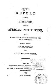 Report of the Committee of the African Institution: Volume 5