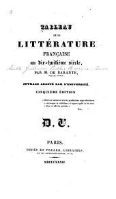 De la littérature française pendant le dix-huitiéme siécle