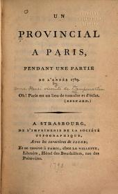 Un provincial à Paris pendant une partie de l'année 1789