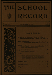 School Record: Volume 9, Issue 3