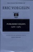Published Essays  1966 1985 PDF