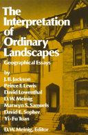 The Interpretation of Ordinary Landscapes PDF
