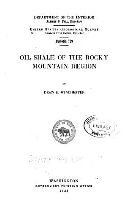 Oil Shale of the Rocky Mountain Region