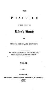 The Practice of the Court of King's Bench in Personal Actions and Ejectment
