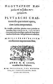 Variorum Plutarchi scriptorum: 1-3