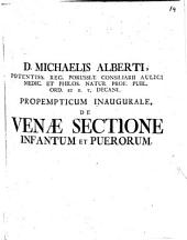 Propempt. ianug. de venae sectione infantum et puerorum