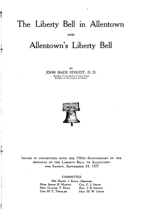 The Liberty Bell in Allentown and Allentown s Liberty Bell PDF