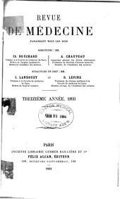 Revue de médecine: Volume13