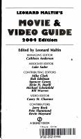 2004 Movie   Video Guide  PDF