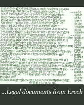 ...Legal documents from Erech: dated in the Seleucid era (312-65 B. C.)