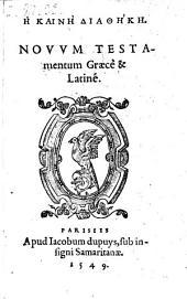 Novum testamentum: Volume 1