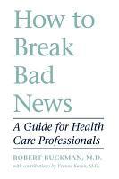How to Break Bad News PDF