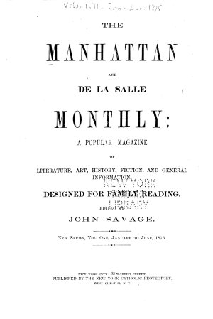 The Manhattan and de la Salle Monthly