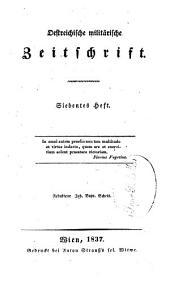 Östreichische militärische Zeitschrift: Band 3