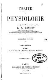Traite de physiologie v. 1: Volume1,Partie2