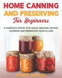 Home Canning and Preserving for Beginners PDF