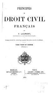 Principes de droit civil français: Volume21